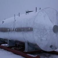 Резервуар РГС на санях